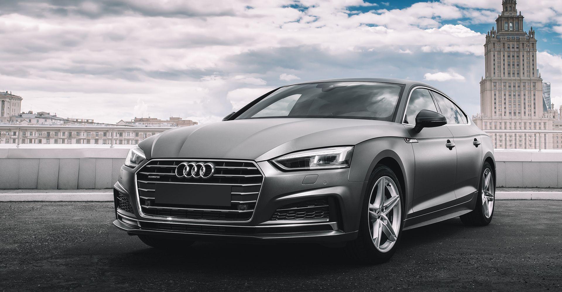 Front side photo of Audi car - Cobalt Motors Ltd