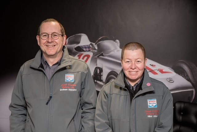 Nikki And Graham Service Driving Team - Great Coates Motors Limited