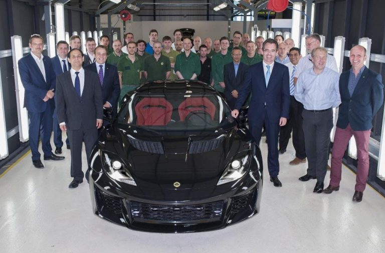First Lotus Evora 400 Drives off the Assembly Line at Hethel