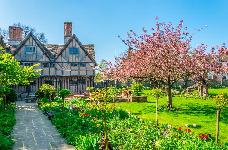 Hall's Croft gardens in Stratford upon Avon, England