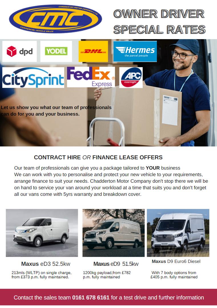 Courier Flyer - Chadderton Motor Company